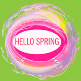 Hello spring card Stock Photography