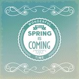 Hello, spring is coming Royalty Free Stock Photos