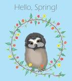 Hello Spring Stock Image