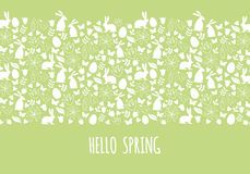 Hello spring, Easter banner, vector Royalty Free Stock Photos