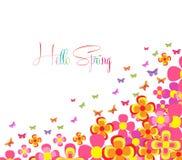 Hello Spring vector illustration