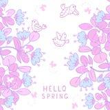Hello spring flowers Stock Photo