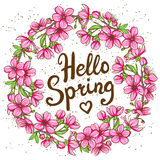 Hello Spring greeting card Royalty Free Stock Images