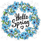 Hello Spring greeting card Royalty Free Stock Photography