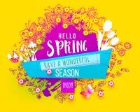 Enjoy Spring splash design stock illustration