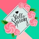 Hello spring 2 Royalty Free Stock Photos