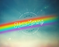 Hello Spring Stock Images
