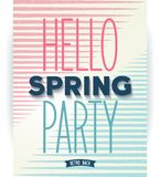 Hello spring party quote poster Stock Images