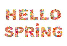 Hello spring Royalty Free Stock Images