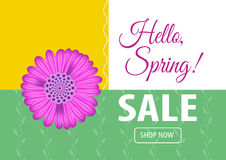 Hello spring sale banner. Vector illustration for your design EPS10 Stock Images