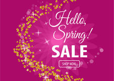 Hello spring sale banner. Vector illustration for your design EPS10 Royalty Free Stock Photos