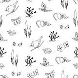 Hello Spring seamless pattern. Hello Spring hand drawn seamless pattern Royalty Free Stock Images