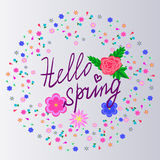 Hello spring Royalty Free Stock Image