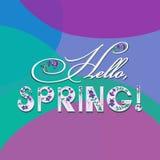 Hello Spring! Spring poster. vector illustration