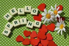 Hello spring Royalty Free Stock Photos
