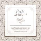 Hello spring template. Stock Photo
