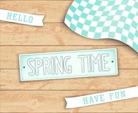 Hello Spring Time Stock Photography