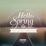 Hello Spring typographic design with colourful bac Royalty Free Stock Photography
