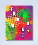 Tropical Summer kids camp party wallpaper Royalty Free Stock Photography
