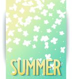 Hello summer abstract poster Stock Photo