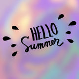 Hello summer. Abstract vector blurred background Royalty Free Stock Photos