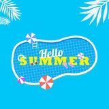 Hello Summer background. good for promotion royalty free illustration