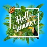Hello summer Background illustration stock illustration