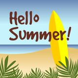 Hello summer background. Vector background for hello summer Stock Photography