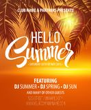 Hello Summer Beach Party Flyer. Vector Design Royalty Free Stock Images