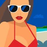 Hello Summer, beautiful woman in bikini Royalty Free Stock Photos