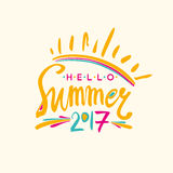 Hello Summer 2017. Royalty Free Stock Image