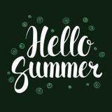 Hello Summer, Calligraphy season banner design, illustration. Hello Summer, Calligraphy season banner design, vector illustration Stock Photo