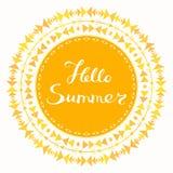 Hello Summer Card Stock Photos
