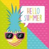 Hello summer card vector illustration
