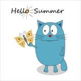 Hello summer cartoon character - vector Royalty Free Stock Image
