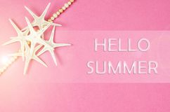 Hello summer concept. Royalty Free Stock Image