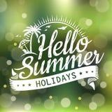Hello summer design Royalty Free Stock Photos