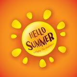 Hello Summer! Enjoy the holidays. Stock Photos