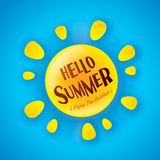 Hello Summer! Enjoy the holidays. Stock Photography