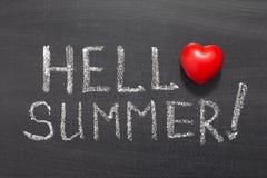 Hello summer Stock Photos