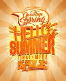 Hello summer, final mega spring sale Stock Image