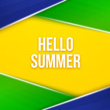 Hello summer. Geometric vector background Royalty Free Stock Images