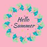 Hello summer green circle Royalty Free Stock Image