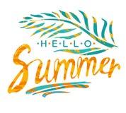 Hello Summer. Royalty Free Stock Photos