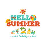 Hello summer holiday vector illustration