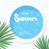 Hello, Summer. Holiday greeting card Royalty Free Stock Images