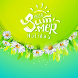 Hello Summer holidays banner Stock Photo