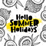 Hello summer holidays. Paradise fruit Royalty Free Stock Image
