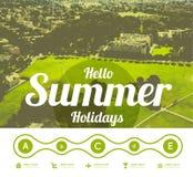 Hello summer holidays Royalty Free Stock Image