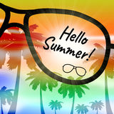 Hello Summer Indicates At This Time And Holiday Royalty Free Stock Image